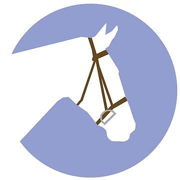 Minimalist Horse → White/Lavender  by e-q-u-i-t-a-t-e