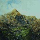 Waterfall Glen Coe. by Ken Simm