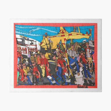 The Midway - Calgary Stampede Art Board Print