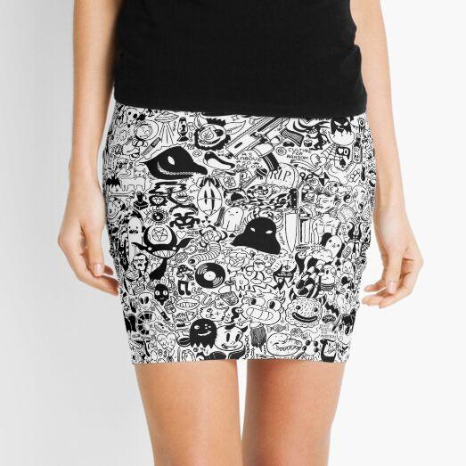 Doodle tile Mini Skirt