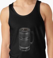 ❁◕‿◕❁  TELESCOPIC LENSE COFFEE CUP TEE SHIRT  ❁◕‿◕❁    ✾◕‿◕✾ Tank Top