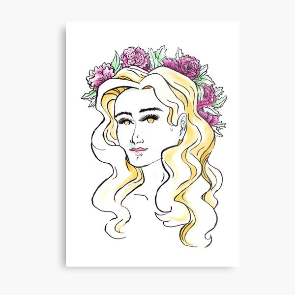 A day for a Flowercrown Metal Print