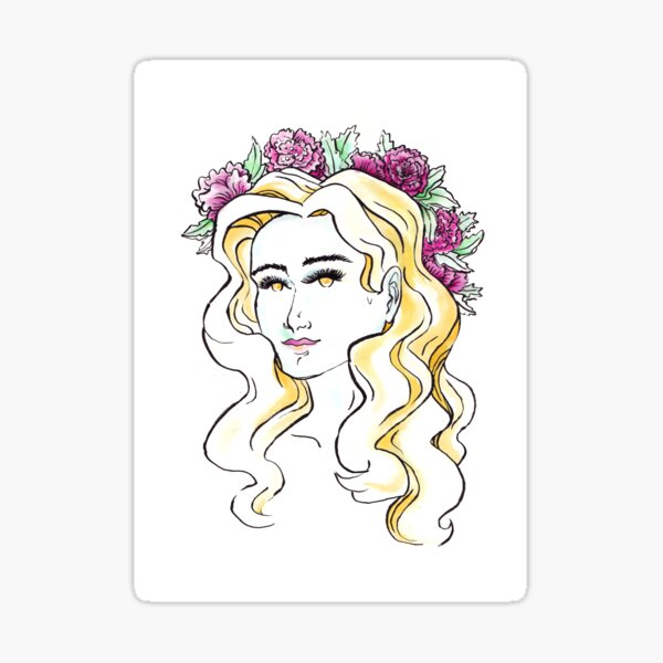 A day for a Flowercrown Sticker