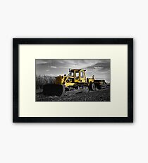 Yellow Digger Framed Print