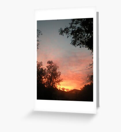 Dawn without manipulation Greeting Card