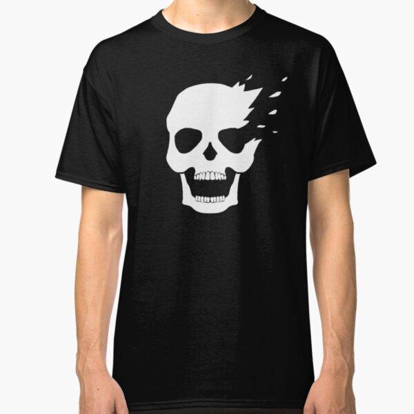 White skull side explosion Classic T-Shirt