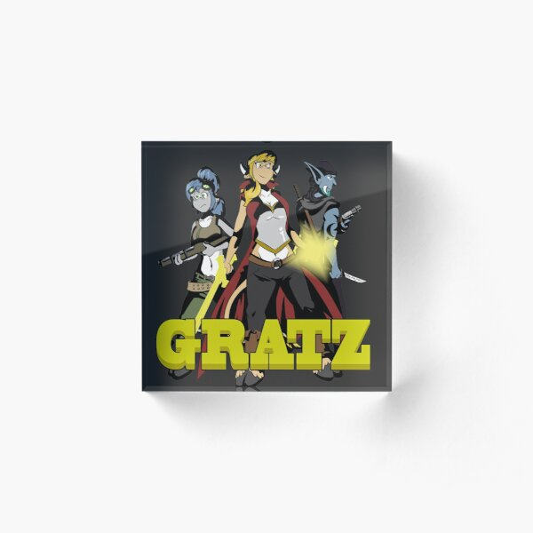 Gratz webcomic adventure trio Acrylic Block
