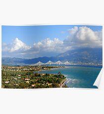 Rion-Antirrion Bridge,Western Greece Poster