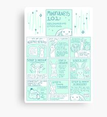 Let's Get You Mentally Healthy: Mindfulness 101 Bunny Comic Canvas Print