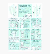 Lassen Sie uns geistig gesund werden: Achtsamkeit 101 Bunny Comic Fotodruck