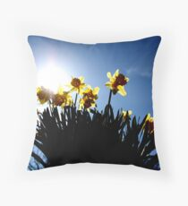 Host of Golden Daffodils Throw Pillow