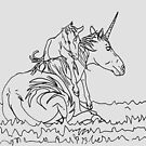 Mare and Foal Mythos by HiddenStash