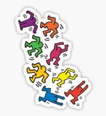 Dancers by Keith Haring Sticker