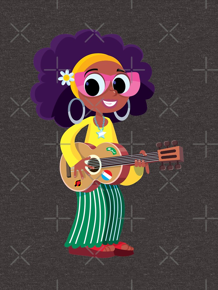girl plays and sings with a guitar by duxpavlic