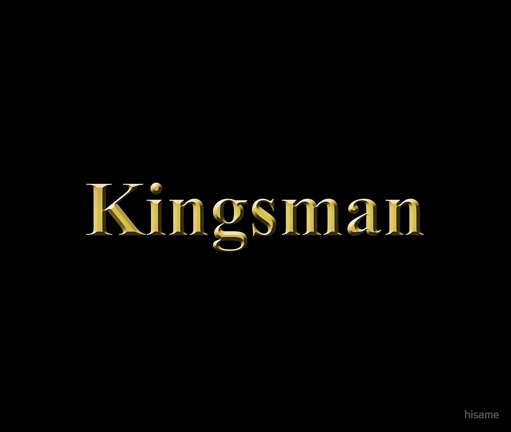 Gold Kingsman Title Plain by hisame