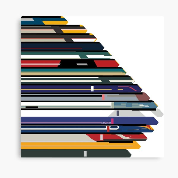 Intercity 125 outline in liveries  Canvas Print