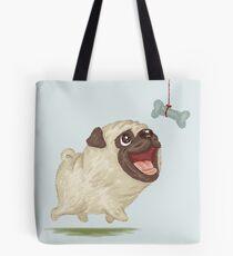 Happy Pug and bone Tote Bag