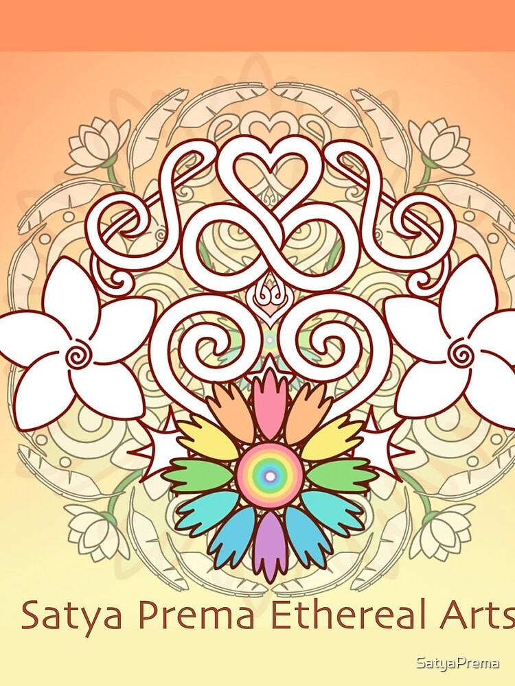 Orange Enlighten Love Mandala by SatyaPrema