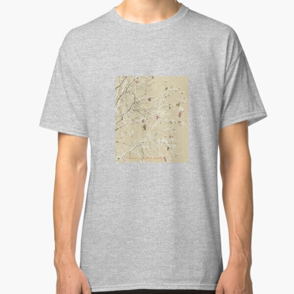 Coffee colored leaves and branches Classic T-Shirt