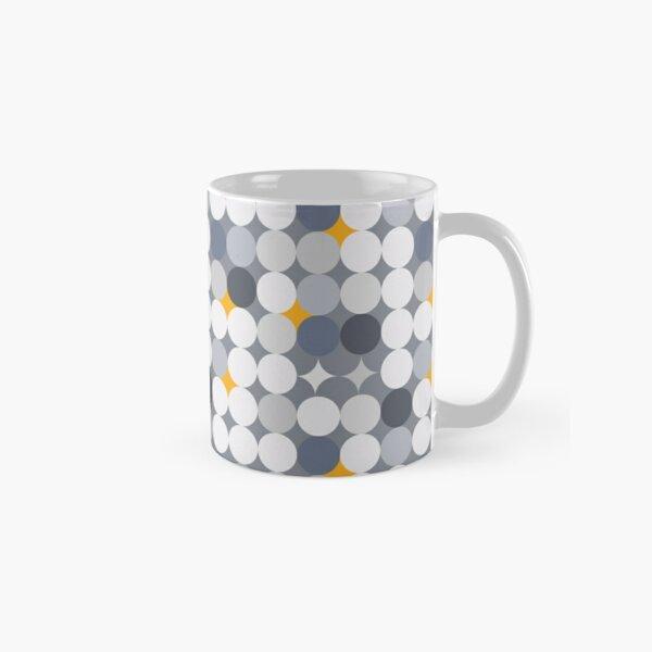 Grey and gold circles Classic Mug
