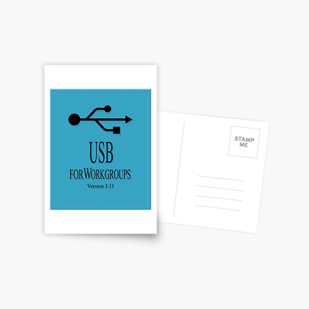 USB 3.11 for WorkGroups Postcard