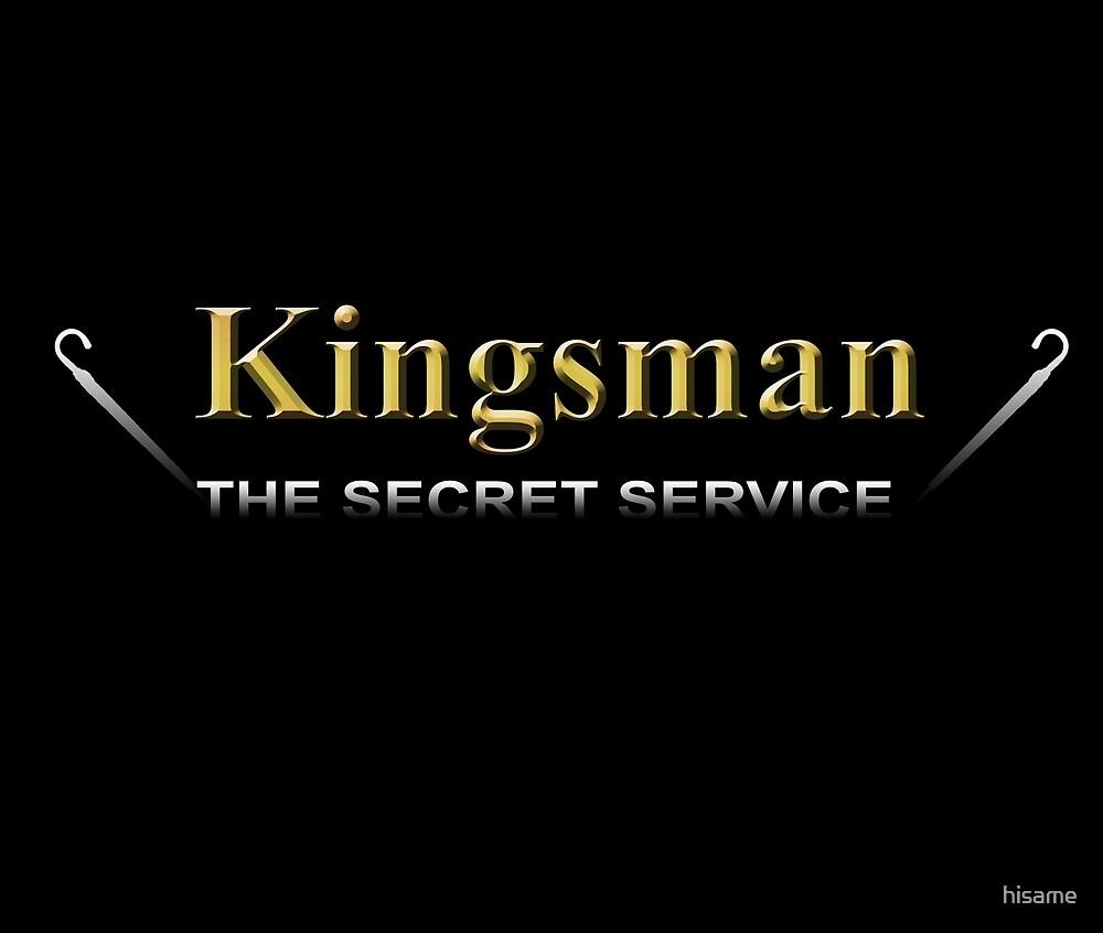 Kingsman Title Gold Umbrella both side by hisame