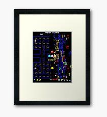Retro Arcade Split Screen Framed Print