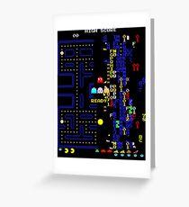 Retro Arcade Split Screen Greeting Card