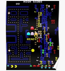 Retro Arcade Split Screen Poster
