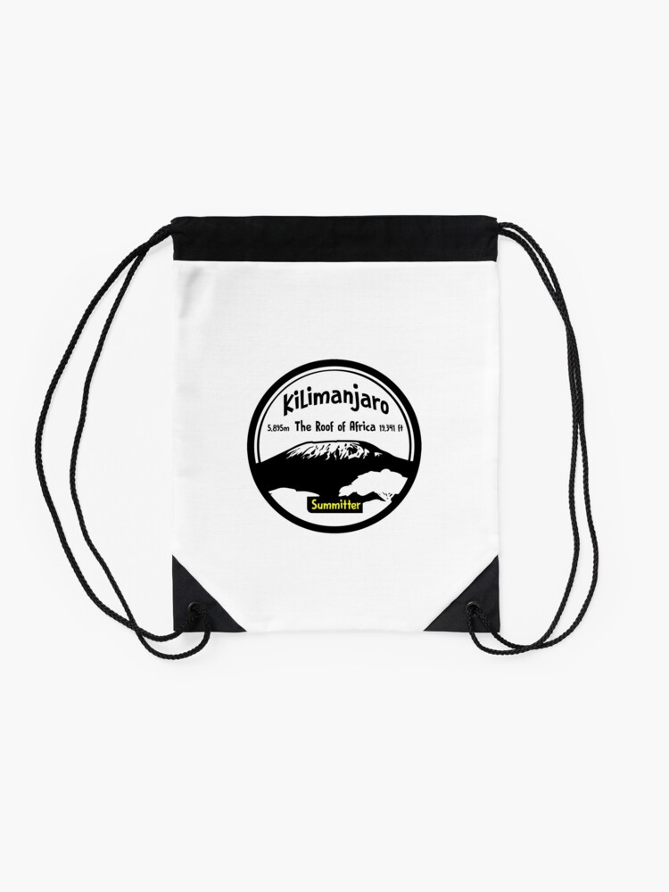 Alternate view of Kilimanjaro Summitter - The Roof of Africa Drawstring Bag