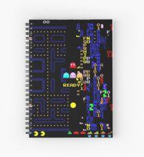 Retro Arcade Split Screen Spiral Notebook