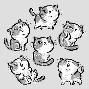 Six Impudent cats de sanogawa