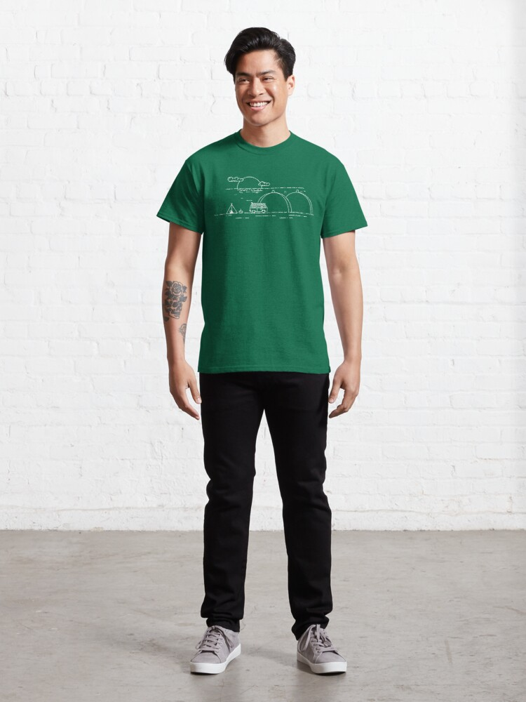 Alternate view of Nuclear Surfing-San Onofre  Classic T-Shirt