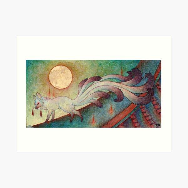 The Messenger - Kitsune, Fox, Yokai Art Print