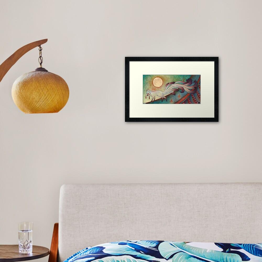 The Messenger - Kitsune, Fox, Yokai Framed Art Print