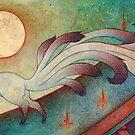 The Messenger - Kitsune, Fox, Yokai by TeaKitsune