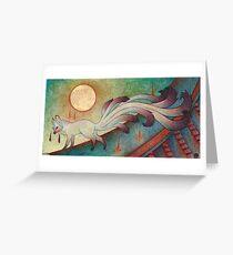 Der Messenger - Kitsune, Fox, Yokai Grußkarte