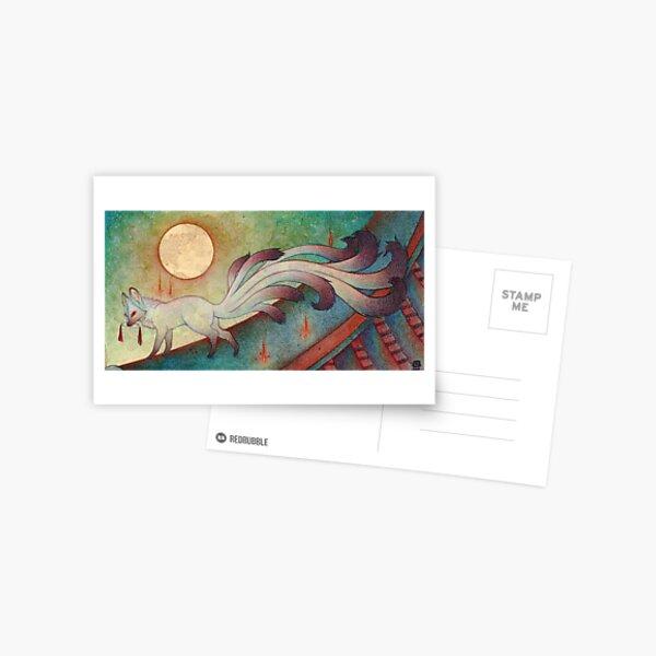 The Messenger - Kitsune, Fox, Yokai Postcard