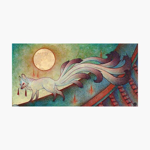 The Messenger - Fox Yokai TeaKitsune Photographic Print