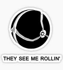 They See Me Rollin' My Morph Ball (Black)  Sticker