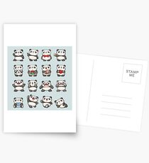 Various feeling of Panda Postcards