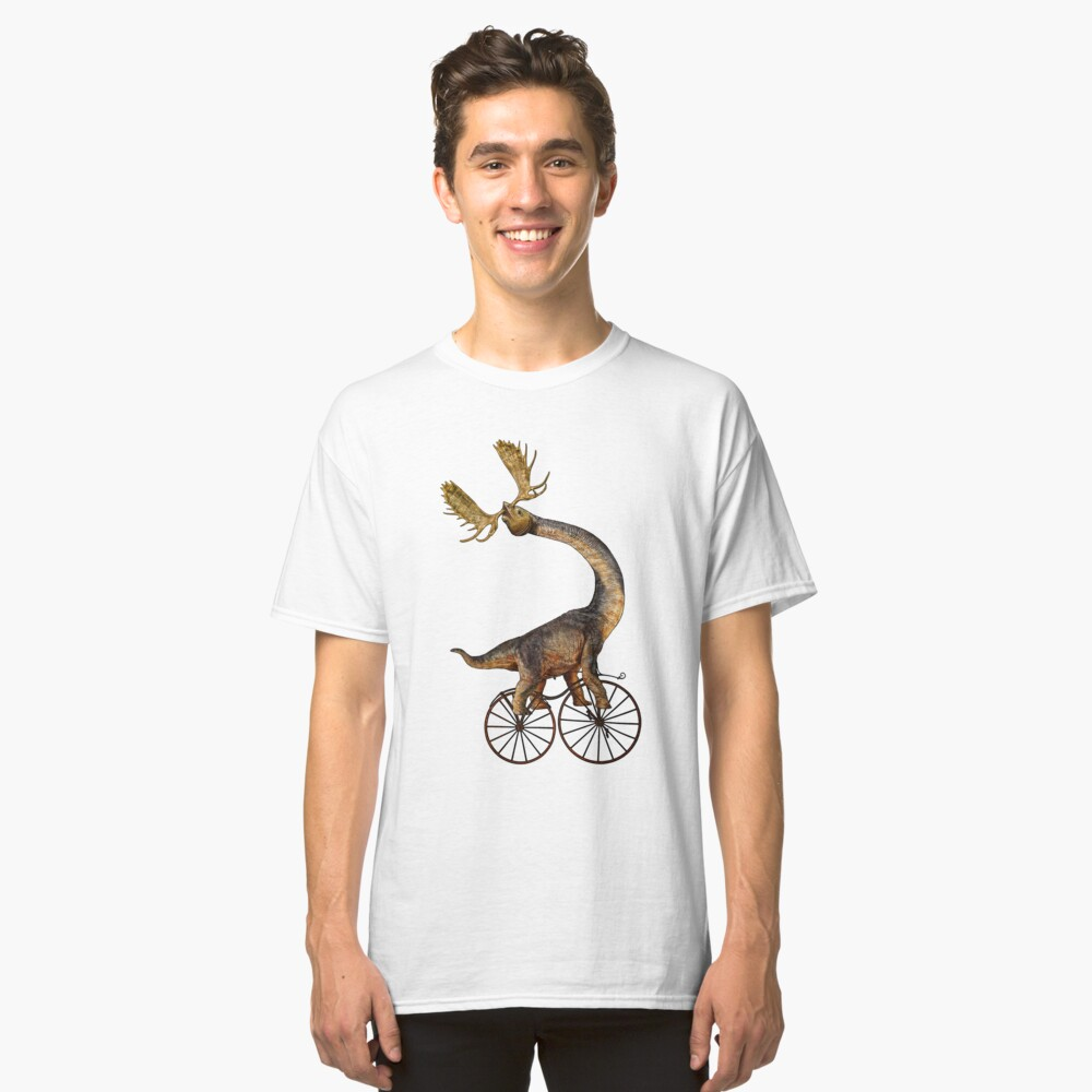 Brachiosaurus Brachiolope on Velocipede Classic T-Shirt