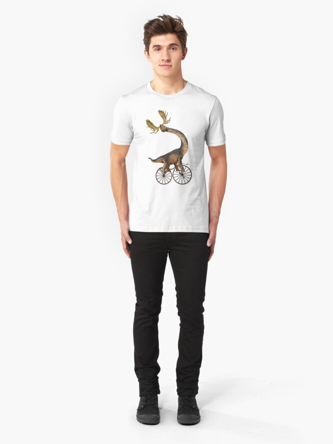Alternative Ansicht von Brachiosaurus Brachiolope on Velocipede Slim Fit T-Shirt