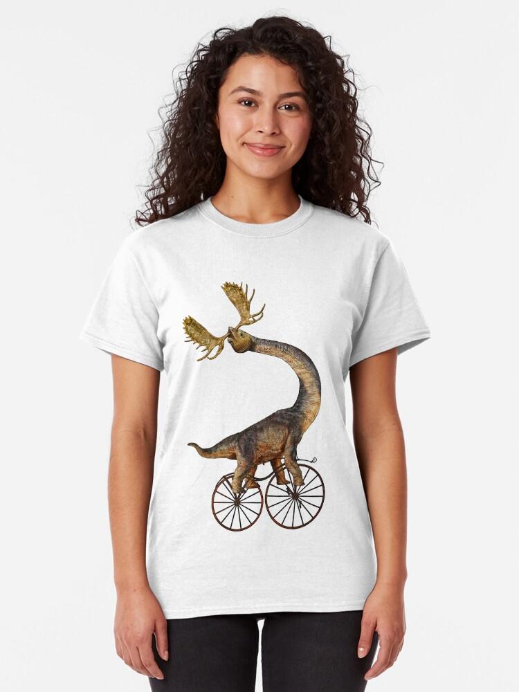 Alternative Ansicht von Brachiosaurus Brachiolope on Velocipede Classic T-Shirt