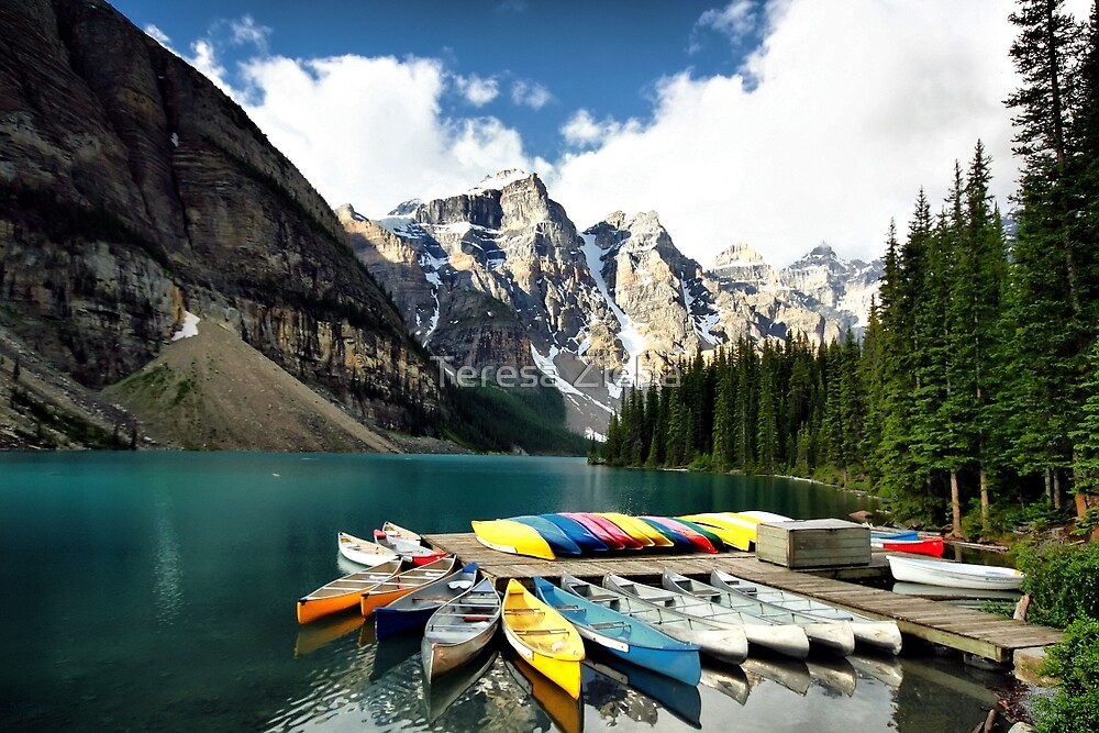 Moraine Lake, Banff NP by Teresa Zieba