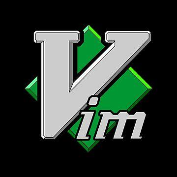 Vim Official Logo (Black background) by hellkni9ht