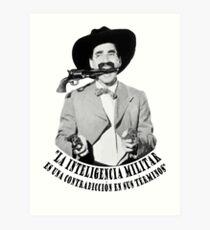 Lámina artística Groucho Marx Inteligencia Militar
