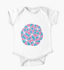 Petal Pattern Baby Body Kurzarm
