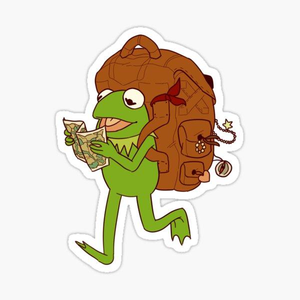 Kermit's movin' right along Sticker