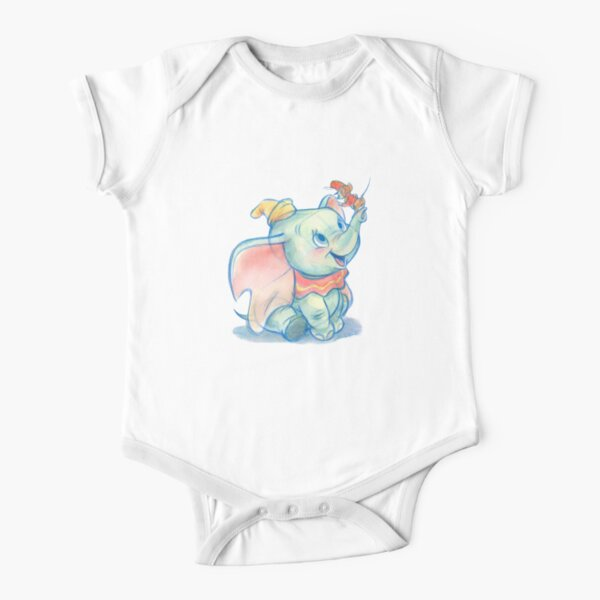 Dumbito skecth Short Sleeve Baby One-Piece